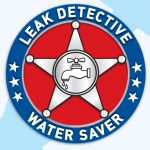 """Leak Detective, Water Saver"" Sticker Roll"