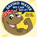 """""""Saving Water, We Can Do It!"""" Sticker Roll"""